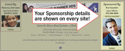 Get your Lender sponsorship on every listing